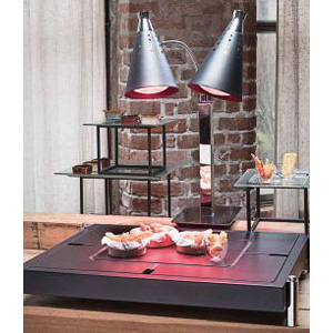 T-Collection Carving Station and Heating Lamps